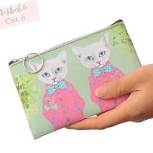 Women/'s Cartoon Cat Money Charges Purse Children Kitty Coin Zipper Wallets Shan