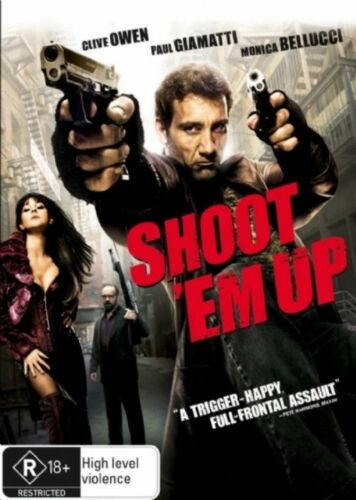 1 of 1 - SHOOT 'EM UP DVD Clive Owen Paul Giamatti Monica Bellucci, action (SEALED) R4>