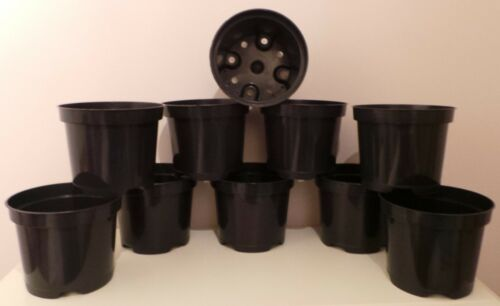 50 x 3 LT LITRI RIGIDA forti Pentole nero in plastica per piante NUOVO