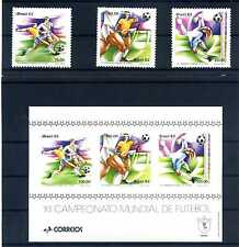 Brasilien 1982 Fußball Weltmeisterschaft Spanien ** 1873 - 1875 Block 48 BR061