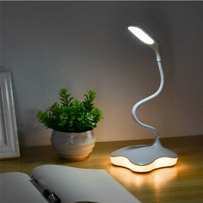 Smart Timing Touch Sensor Cordless LED Light Desk Table Reading Lamp White USB | eBay