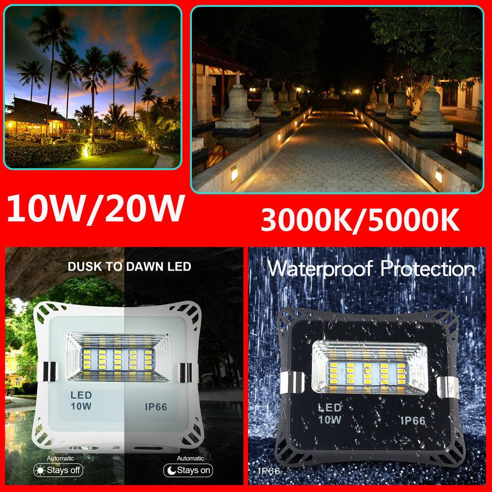 Bombilla LED Crepúsculo al Amanecer Sensor inteligente de luz de inundación Auto Encendido Apagado Interior Al Aire Libre