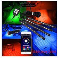 4 x 12 LED Car Decorative Lights Interior Foot Mood Light With Phone App Control