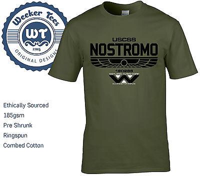 100% Vero Alien Nostromo Nuovo T Shirt-ispirato Da Uss Solaco Taglia S-xxl-mostra Il Titolo Originale Prezzo Di Strada