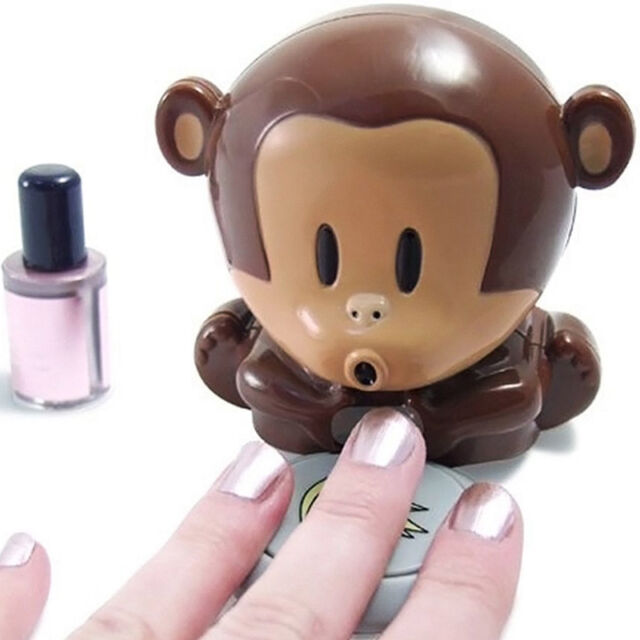 Nail Polish Drying Machine With Lovely Small Finger Dry Mini Monkey Ing