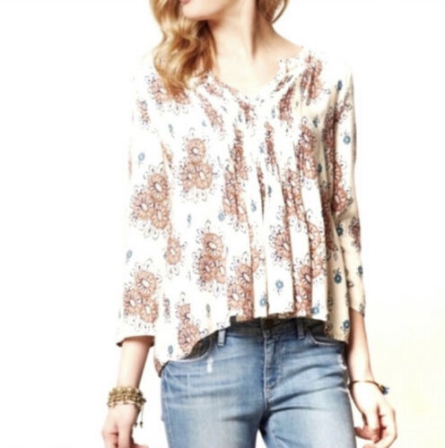 Details about  /NEW Anthropologie Webbed Panes Blouse by Vanessa Virginia  Size M