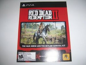 Red-Dead-Redemption-II-2-DLC-for-PlayStation-4-PS4-War-Horse-Outlaw-Survival-Kit