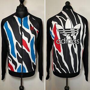 Adidas Zebra Superstar AO2892 Black Tracksuit Track Trackie Zip Top M VGC RARE