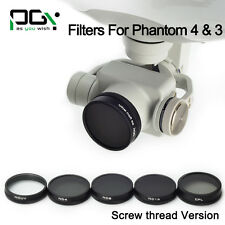 ND4+ND8+ND16+MC UV+CPL filter Lens Screw Version & Lens Box for DJI phantom 4/3
