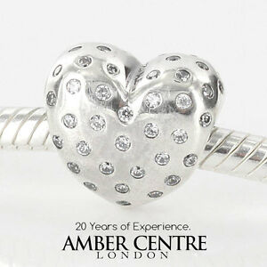 8fef08686 Image is loading PANDORA-AUTHENTIC-SILVER-SPARKLING-HEART-CHARM -791241CZ-RRP-