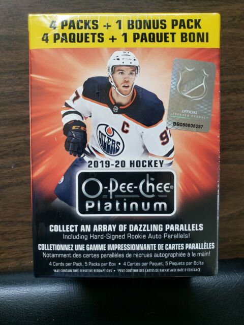 2019-20 Upper Deck O-Pee-Chee Platinum Hockey Factory Sealed Blaster Box