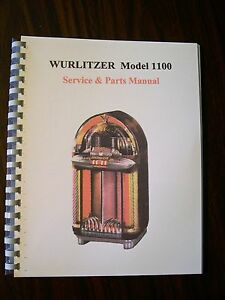 wurlitzer 1100 jukebox manual ebay rh ebay com Wurlitzer 1100 Jukebox Wurlitzer 1100 Parts