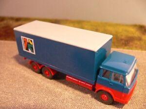 1//87 Wiking Koffer Anhänger blau//rot
