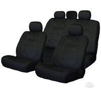For Vw Semi Custom Black Velour Car Seat Covers Set