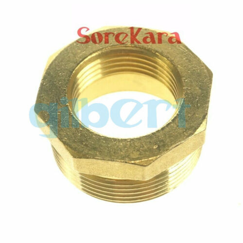 """1//4/""""-2/"""" BSP Female to Male Brass Reducing Reducer Fitting Gas Air Water Fuel"""