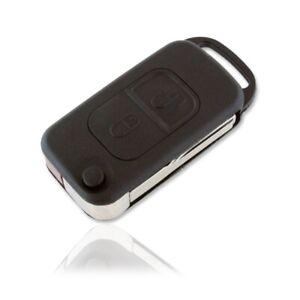 Carcasa Mando Llave del Coche 2 Botones Mercedes Negro