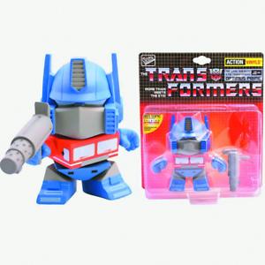 the loyal subjets x transformers optimus with soundchip vinyl figure