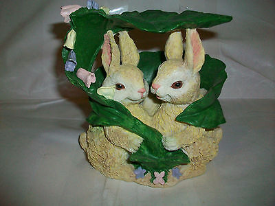 BUNNIES UNDER LEAF Natural woodland tones Commodities Ltd. Made in China