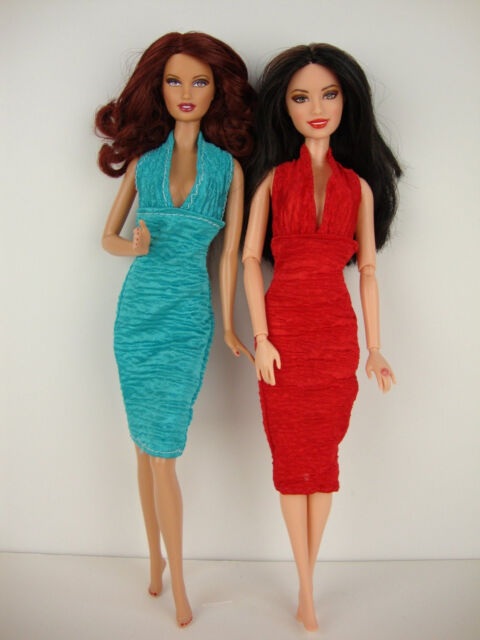 Group of 6 Outfits Very Fashionable Made to Fit Barbie Doll