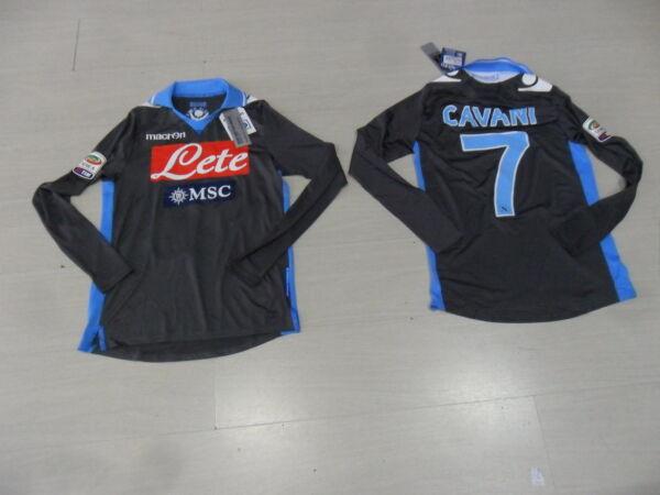 1310 M 7 Cavani Napoli Maglia Maglietta Manica Lunga L/s Issue Jersey Shirt