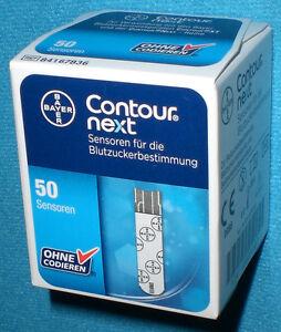 CONTOUR-NEXT-50-Stueck-Sensoren-Teststreifen-FACHHAENDLER-BAYER-NEU-OVP