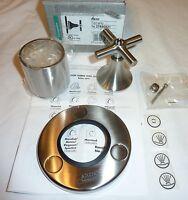 Hansgrohe 37886821 Axor Terrano Trio Shower Diverter & Cross Hndl Brushed Nickel