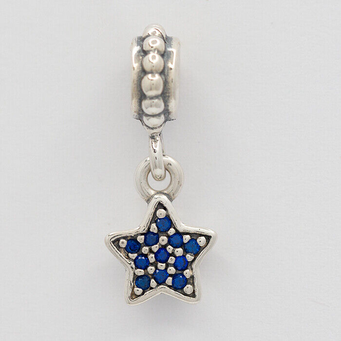 Details about  /Blue Ballerina Cubic Zirconia Dangle Charm Sterling Silver