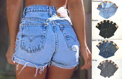 Vintage Femme Levis Denim Taille Haute Short Jeans Shorty toutes tailles Cut Offs | eBay