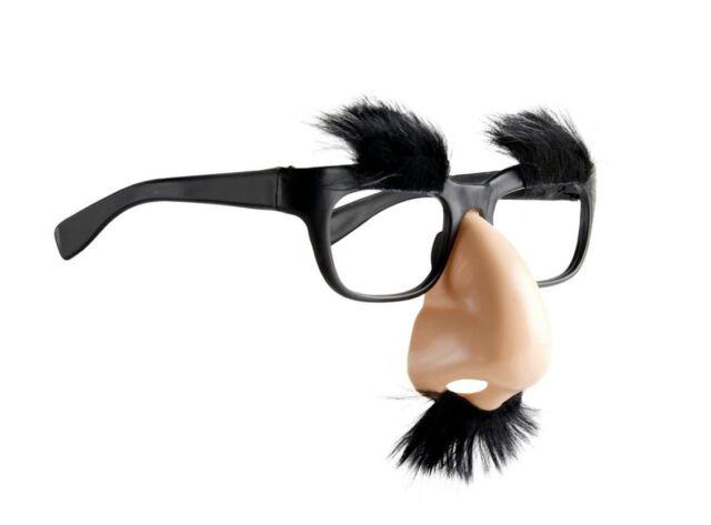 ab4721d781 Mens Adults Groucho Marx Nose Moustache Eyebrows   Glasses Fancy ...