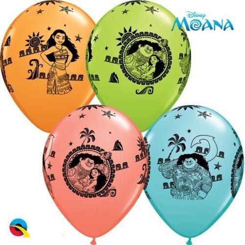 """Nuevo 5 Disney Moana y Maui 11/"""" Globos Qualatex Hawaiano Tropical de látex"""