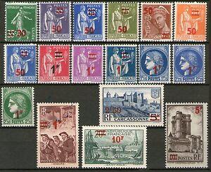 TIMBRES-N-476-492-NEUF-GOMME-ORIGINE-SERIE-DE-1932-1938-AVEC-NLLES-VALEURS