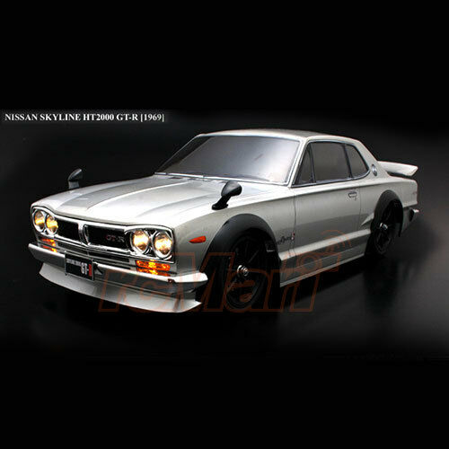 ABC Hobby NISSAN Skyline HT2000 GT-R KPGC10 190mm Body Chrome w/Parts Car  66093