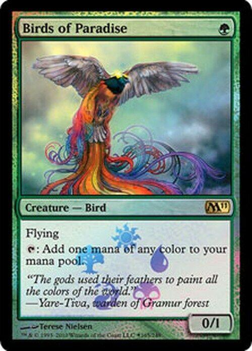 Oiseaux de paradis FOIL   PREMIUM Promo Promo Promo BaB VO - Birds of Paradise - Magic Mtg e22a08