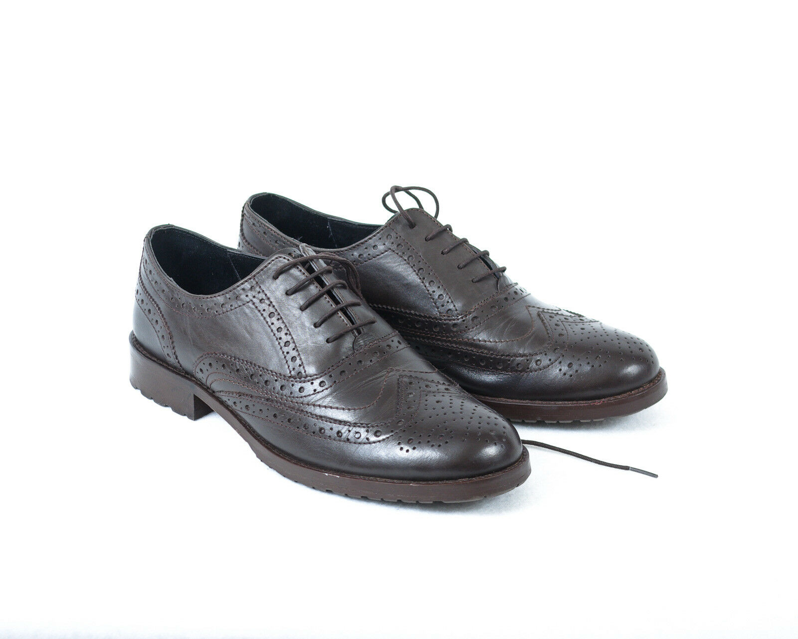 PENGUIN 100% LEATHER  FORMAL BROWN BROGUE SHOES