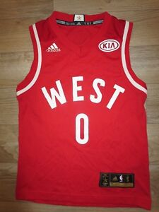 newest collection b4edf 00035 Details about Russell Westbrook #0 NBA All Star Game Thunder adidas Jersey  Youth SM 8 children