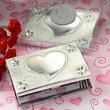 50 - Heart Design Compact Mirror   - Wedding Favors
