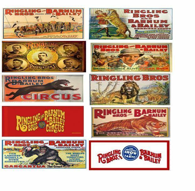10 HO Ringling Circus Wagon set (can Sub)