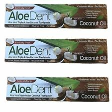 AloeDent Aloe Vera Triple Action COCONUT TOOTHPASTE 100ml (Pack of 3)