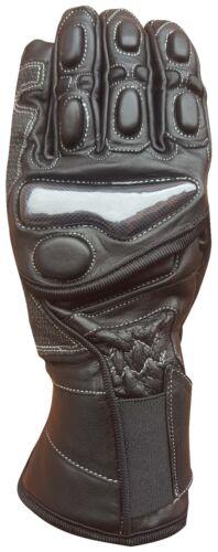 custom tourg Auklet Nero Nuovo Guanti pelle moto con protezioni  sport