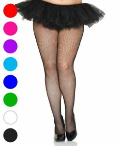 66d8a38b1668d Image is loading Plus-Size-Seamless-Fishnet-Pantyhose-Music-Legs-9001Q
