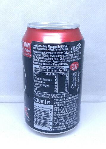 UK Empty Pepsi Max can UEFA Champions League 2016 Edition; 330 ml; Bottom
