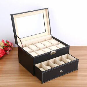 6-20-Slots-Leather-Watch-Jewelry-Display-Collection-Storage-Organizer-Box-Gift