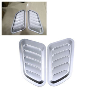 New 2pcs Fender Hood Decorative Side Air Flow Vent Cover for Car Truck SUV