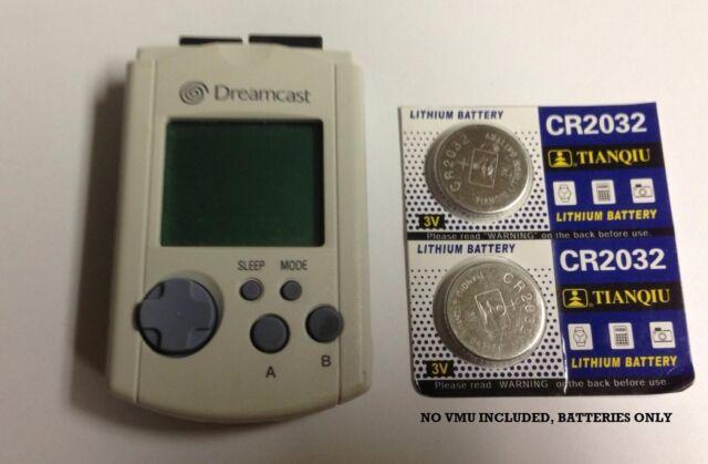 2 NEW Sega Dreamcast VMU Memory Card Batteries Battery Ships USA