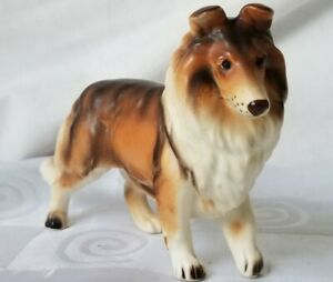 Lefton-Collie-Dog-Figurine-H2294-Vintage-Porcelain