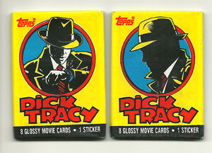1990 Topps Dick Tracy Collectible Trading Cards One Wax Pack