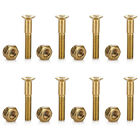 8Pcs Gold Hardware Screws Bolts Replacement Kit for Skateboard Longboard Truck