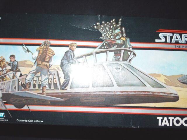 Vintage~1984~1985~Kenner~Star~Wars~POTF~Last~17~Tatooine~Skiff~ship~vehicle~BOX~