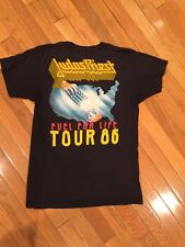 Vintage 1986 Judas Priest TURBO FUEL FOR LIFE Tour T-Shirt Sz M