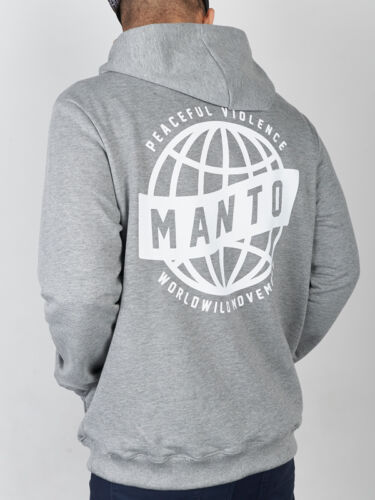 "NEW! Manto "" Movement "" Grey Hoodie Hoody BJJ No Gi Casual MMA Fight Jiu Jitsu"